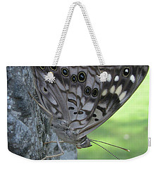 Hackberry Emperor Butterfly Weekender Tote Bag by Donna Brown