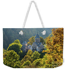 Haghartsin Monastery With Trees In Front At Autumn, Armenia Weekender Tote Bag