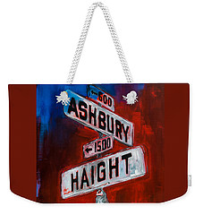 Weekender Tote Bag featuring the painting Haight And Ashbury by Elise Palmigiani