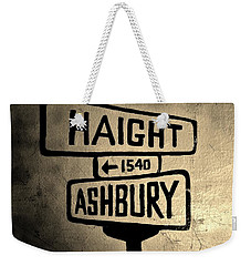 Haight Ashbury Weekender Tote Bag