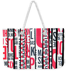 Weekender Tote Bag featuring the mixed media Haiku In Red And Black by Elena Nosyreva