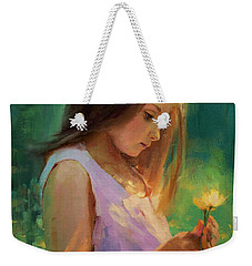 Weekender Tote Bag featuring the painting Hailey by Steve Henderson