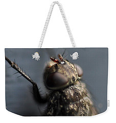 Weekender Tote Bag featuring the photograph Hair On A Fly by Glenn Gordon