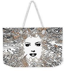Weekender Tote Bag featuring the digital art Hair Thair And Everywhair Mara by Seth Weaver