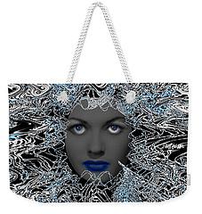 Weekender Tote Bag featuring the digital art Hair Thair And Everywhair Nadia by Seth Weaver