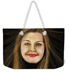 Weekender Tote Bag featuring the digital art Haircut by Sladjana Lazarevic