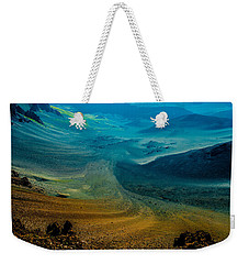 Weekender Tote Bag featuring the photograph Haleakala by M G Whittingham