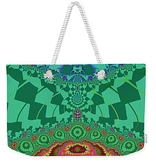 Weekender Tote Bag featuring the digital art Halernewid by Andrew Kotlinski
