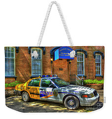 Weekender Tote Bag featuring the photograph Half And Half What Is It Manna Savannah Georgia Police Art by Reid Callaway