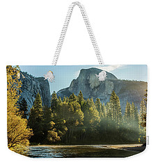 Half Dome And Merced River Autumn Sunrise Weekender Tote Bag
