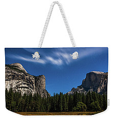 Half Dome And Moonlight - Yosemite Weekender Tote Bag