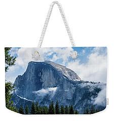 Half Dome In The Clouds Weekender Tote Bag