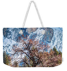 Half Dome Meadow Tree Winter Weekender Tote Bag