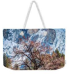 Half Dome Meadow Tree Winter Weekender Tote Bag