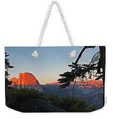 Weekender Tote Bag featuring the photograph Half Dome - Sunset On A Bright Day by Walter Fahmy