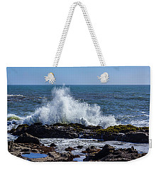 Wave Crashing On California Coast 1 Weekender Tote Bag