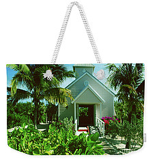 Weekender Tote Bag featuring the photograph Half Moon Caye Church by Gary Wonning