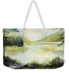 Half Moon Pond Weekender Tote Bag by Judith Levins