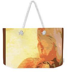 Half Of An Abstract Iris Weekender Tote Bag
