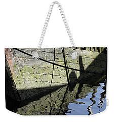 Half Sunk Boat Weekender Tote Bag