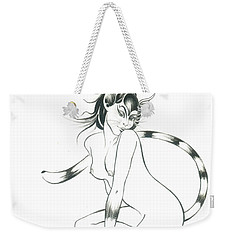 Half Wild Cat Weekender Tote Bag