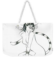 Half Wild Cat Weekender Tote Bag