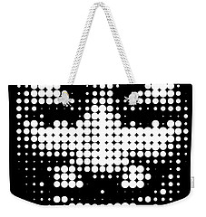 Halftone Anonymous Face  Weekender Tote Bag