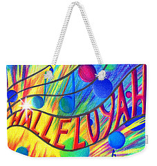 Halleluyah Weekender Tote Bag by Nancy Cupp