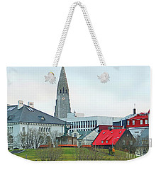 Hallgrimskirkja From Harpa 6219 Weekender Tote Bag