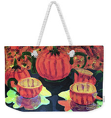 Weekender Tote Bag featuring the painting Halloween Holidays by Donald J Ryker III