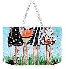 Weekender Tote Bag featuring the painting Halloween Party by Elizabeth Robinette Tyndall