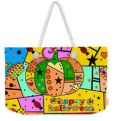 Weekender Tote Bag featuring the digital art Halloween Popart By Nico Bielow by Nico Bielow