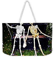 Halloween Skeleton Couple Weekender Tote Bag