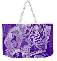 Halloween Skeleton Welcoming The Undead Weekender Tote Bag