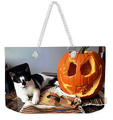 Halloween Weekender Tote Bag by Vicky Tarcau