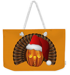 Hallowgivingmas Santa Turkey Pumpkin Weekender Tote Bag