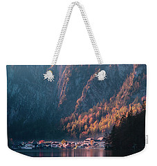 Weekender Tote Bag featuring the photograph Hallstatt Fall by Geoff Smith