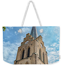 Weekender Tote Bag featuring the photograph Halmstad Church In Sweden by Antony McAulay
