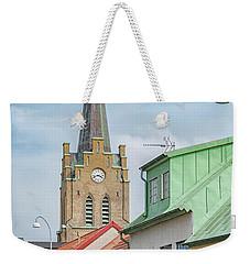 Weekender Tote Bag featuring the photograph Halmstad Street Scene by Antony McAulay