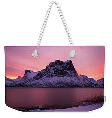 Halo In Pink Weekender Tote Bag by Alex Lapidus