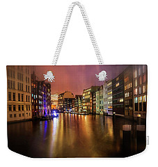 Weekender Tote Bag featuring the photograph Hamburg By Night  by Carol Japp