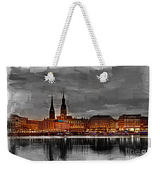 Hamburg Germany Skyline 01 Weekender Tote Bag