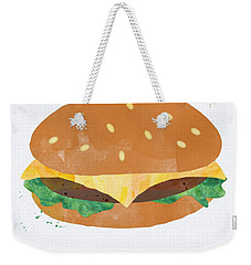 Hamburger Weekender Tote Bag by Linda Woods