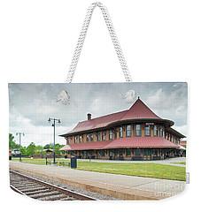 Hamlet North Carolina Depot Weekender Tote Bag by John Black