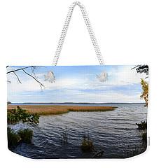 Hamlin Lake In Autumn Weekender Tote Bag