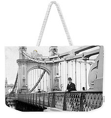 Hammersmith Bridge In London - England - C 1896 Weekender Tote Bag by International  Images