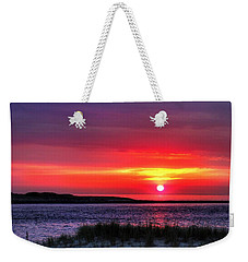 Hampton Beach Sunrise Weekender Tote Bag