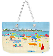Hampton Beach Umbrellas Weekender Tote Bag