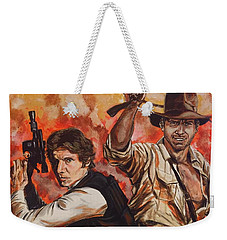 Han Solo And Indiana Jones Weekender Tote Bag