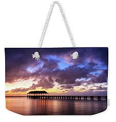 Hanalei Pier Weekender Tote Bag by James Eddy